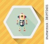 robot concept flat icon with... | Shutterstock .eps vector #381972601
