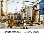 old industrial pipeline... | Shutterstock . vector #381976021