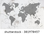dirty white concrete and cement ... | Shutterstock . vector #381978457
