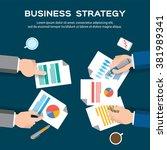 business plan   business... | Shutterstock .eps vector #381989341