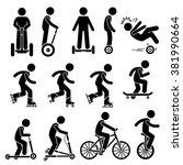 Park Ride Vehicles Stick Figure ...