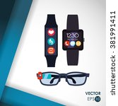 technology icon design  | Shutterstock .eps vector #381991411