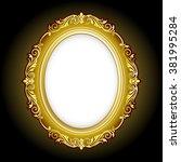 vector vintage border frame... | Shutterstock .eps vector #381995284