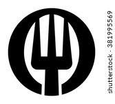 fork logo vector. | Shutterstock .eps vector #381995569