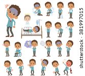 a set of school boy with injury ... | Shutterstock .eps vector #381997015
