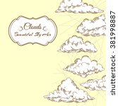 background with clouds... | Shutterstock .eps vector #381998887