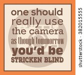 photography quote poster | Shutterstock .eps vector #382015555