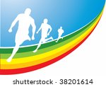 runner. vector illustration for ... | Shutterstock .eps vector #38201614