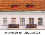windows and balconies on the... | Shutterstock . vector #382030135