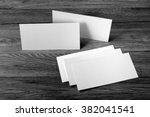 blank flyer over wooden... | Shutterstock . vector #382041541