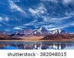 peiku tso lake  tibet. lake is... | Shutterstock . vector #382048015