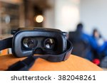 virtual reality smart phone... | Shutterstock . vector #382048261