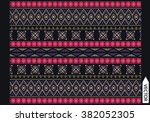 ethnic embroidery graphic... | Shutterstock .eps vector #382052305