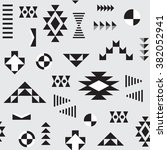 seamless geometric pattern | Shutterstock .eps vector #382052941