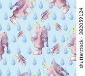watercolor seamless background... | Shutterstock . vector #382059124