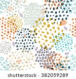 abstract seamless pattern with... | Shutterstock . vector #382059289