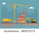 construction site | Shutterstock .eps vector #382072171