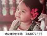 portrait of a cute little baby... | Shutterstock . vector #382073479