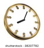 isolated clock on white... | Shutterstock . vector #38207782