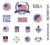 made in the usa   signs and... | Shutterstock .eps vector #382088764