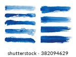 watercolor. blue abstract... | Shutterstock . vector #382094629