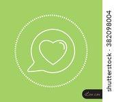 line icon  heart in speech...   Shutterstock .eps vector #382098004