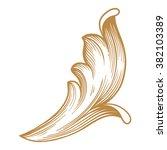premium gold vintage baroque...   Shutterstock .eps vector #382103389