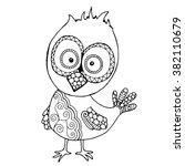 funny little chicken... | Shutterstock .eps vector #382110679
