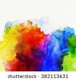 bright rainbow colored... | Shutterstock . vector #382113631