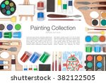 painting tools and other... | Shutterstock . vector #382122505