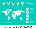 world map vector flat white... | Shutterstock .eps vector #382142737