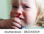 baby nose bleeds   Shutterstock . vector #382143319