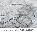 cracked concrete texture... | Shutterstock . vector #382144705