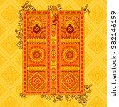 vector design of traditional... | Shutterstock .eps vector #382146199