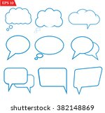 speech bubbles icons set on... | Shutterstock .eps vector #382148869