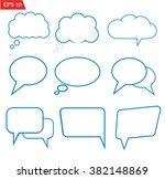 speech bubbles icons set on...   Shutterstock .eps vector #382148869