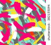 brush stroke chaotic seamless... | Shutterstock .eps vector #382155094