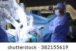 da vinci surgery. minimally... | Shutterstock . vector #382155619