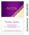 Violet Wedding Invitation With...