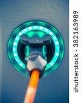 power socket of electric car...   Shutterstock . vector #382163989