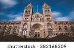 natural history museum entrance ... | Shutterstock . vector #382168309
