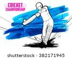 illustration of batsman playing ... | Shutterstock .eps vector #382171945