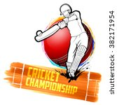illustration of batsman playing ... | Shutterstock .eps vector #382171954