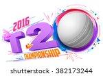 illustration of cricket ball... | Shutterstock .eps vector #382173244