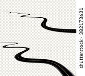 abstract curved road asphalt ...   Shutterstock .eps vector #382173631