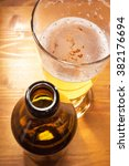 macro view of a beer glass with ...   Shutterstock . vector #382176694