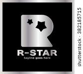 round letter r two star logo....   Shutterstock .eps vector #382185715