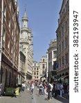 brussels  belgium   july 31 ... | Shutterstock . vector #382193947