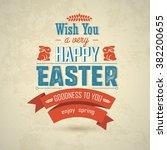 happy easter big label...   Shutterstock .eps vector #382200655