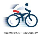 cyclist icon. abstract stylized ... | Shutterstock .eps vector #382200859